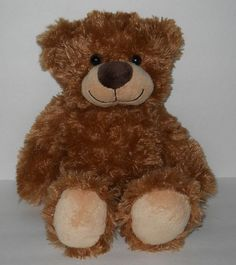 "Dan Dee Brown Teddy Bear 14"" Swirl Stuffed Shaggy Fur Plastic Eyes Soft Plush #DanDee #All"