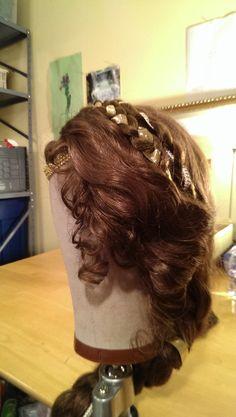 Wig design detail for LEAR (Cordelia). Elizabeth Cipollina, 2014.