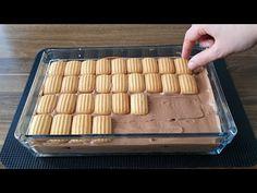 SADECE 4 MALZEME İLE AKLINIZI BAŞINIZDAN ALACAK ÖYLE BİR PASTA YAPTIM Kİ👌 - YouTube Cheesecake Brownies, Finger Foods, Tiramisu, Cookie Recipes, Tart, Biscuits, Food And Drink, Sweets, Make It Yourself