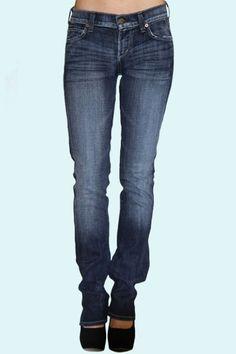 Jeans / Ava Low Rise Straight Leg Jean in Vital