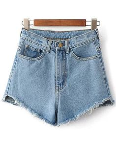 SHARE & Get it FREE | Fringe High Waist Denim Shorts - Light BlueFor Fashion Lovers only:80,000+ Items • New Arrivals Daily Join Zaful: Get YOUR $50 NOW!