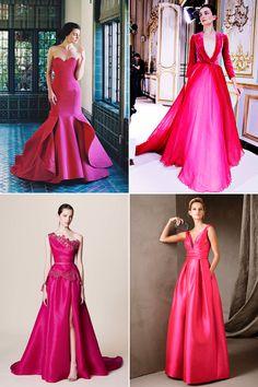 8 Hot Color Trends for Wedding Reception Dresses!