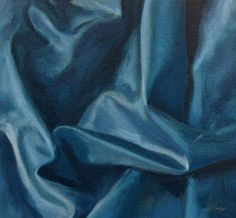 Blue Folds, painting by artist Don Gray