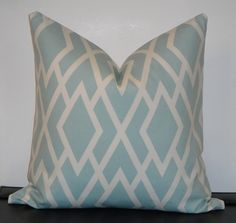 "Seamist Diamond Pillow Cover 18"" x 18"" $38"