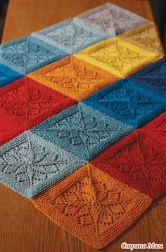 Tin Can Knits Vivid Blanket Pattern by Alexa Ludeman & Emily Wessel is a gorgeous blanket knitting pattern suitable for babies, toddlers and those who are still children at heart. Gorgeous lace panels, knit in the round. Knitting Stitches, Knitting Patterns Free, Knit Patterns, Free Knitting, Baby Knitting, Stitch Patterns, Square Patterns, Blanket Patterns, Pretty Patterns