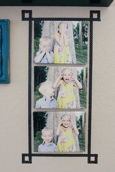 Use washi tape to add a fun and easy faux-frame.