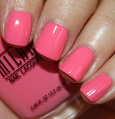 Milani - Popping Pink (Gold Label Specialty Nail Lacquer Collection Spring 2014) / VampyVarnish
