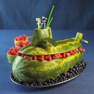 Such a cute idea! Watermelon Submarine :)