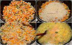 cum se calesc legumele si orezul pentru pilaf Broccoli, Salsa, Grains, Rice, Vegetables, Ethnic Recipes, Food, Salsa Music, Restaurant Salsa