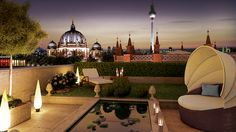 Genießen Sie den Blick von Ihrer Dachterrasse. Die historische Mitte Berlins, das Ensemble aus Museumsinsel, Berliner Dom, Staatsoper, Stadtschloss und Gendarmenmarkt liegt Ihnen zu Füßen.