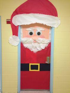 Classroom door decoration Santa & Pretty Christmas Door Decoration Ideas | Pinterest | Santa Doors ...
