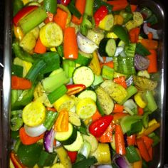 My famous veggie dish I made for thanksgiving. Yummy-O