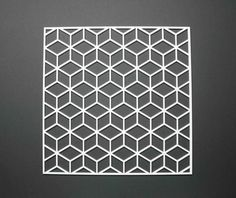 Placemat cubic geometry perspex wedding gift present table mat Window Grill Design Modern, Balcony Grill Design, Persian Pattern, Office Furniture Design, Metal Art, Geometry, Pattern Design, Wedding Gifts, Block Wall