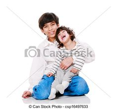 Stock Photo - Big brother holding disabled two year old child. - stock image, images, royalty free photo, stock photos, stock photograph, stock photographs, picture, pictures, graphic, graphics