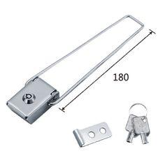 Flight cabinet toggle latch lock
