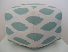 "Can I make this....?? 18"" Ottoman Pouf Floor Pillow Jade Natural Ikat. $85.00, via Etsy."
