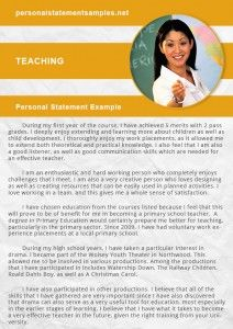 teacher personal statement ucas