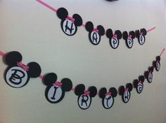 A Squared Craft Affairs- Minnie Mouse Banner