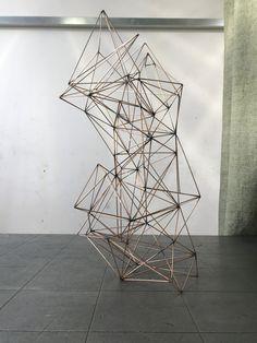 Geometric sculpture deconstruction art