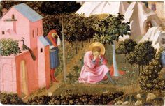 Fra Angelico, La conversion de Saint Augustin, conservée au musée Thomas Henry de Cherbourg, provenant de l'expert parisien Thomas Henry, qui légua sa collection à sa ville natale en 1835.