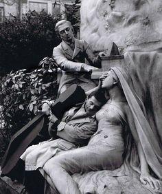 Maurice Baquet, Dreaming, Paris, France 1950.