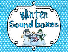 Winter Sound Boxes {FREEBIE}