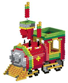 3D Holiday Train Perler Project Pattern