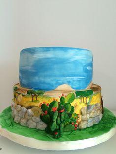 #weddingcake #sicilycake #fondant #sugarcake