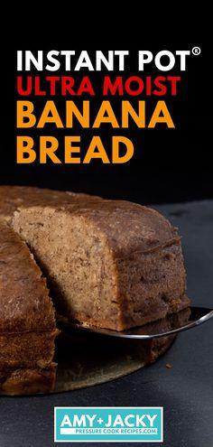 Make Nana's Ultra Moist Instant Pot Banana Bread (Pressure Cooker Banana Bread)! The deliciously rich taste of grandma's easy homemade banana bread. Homemade Banana Bread, Moist Banana Bread, Vegan Banana Bread, Homemade Muffins, Homemade Breads, Best Instant Pot Recipe, Instant Pot Dinner Recipes, Easy Bread Recipes, Banana Bread Recipes