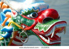Intricate dragon boat head