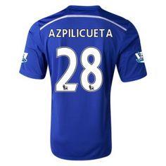 Nueva Camiseta de Azpilicueta del Chelsea Primera 2014 2015