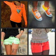 5SOS preference- Neon he picks out for you.
