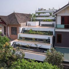 Terraced 'agritecture' house combines architecture with urban agriculture - H&P Architects