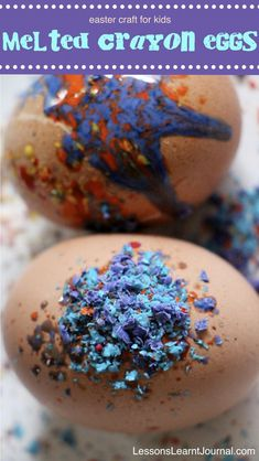 These melted crayon eggs are the perfect Easter craft for kids & adults. Watch the crayons melt without any hairdryers.