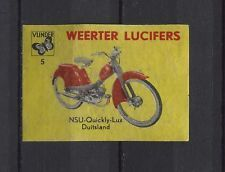 NSU Quickly-lux Motorbike/Moped Weerter Vintage Matchbox Label No.5 | eBay