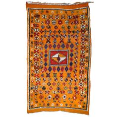 Vintage North African Berber Moroccan Rug | From a unique collection of antique and modern moroccan and north african rugs at http://www.1stdibs.com/furniture/rugs-carpets/moroccan-rugs/