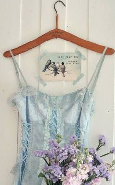 Raindrops and Roses Romantic Dance, Raindrops And Roses, Invisible Crown, Wall Candy, Little Cottages, Himmelblau, Lavender Blue, Dresser With Mirror, Rose Dress