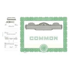 Goes 727 Common Stock Certificate Form   Acorn Is Your Source For Goes  Certificates Online.  Blank Stock Certificate Template