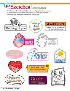 March/April 2011 Simple Sentiments | March/April 2011 | Paper Crafts