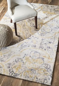 Radiante BC73 Washed Ivory Rug | Contemporary Rugs