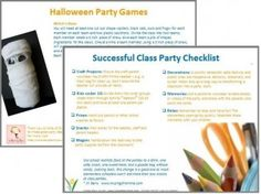 halloween classroom party ideas and support for classroom parents