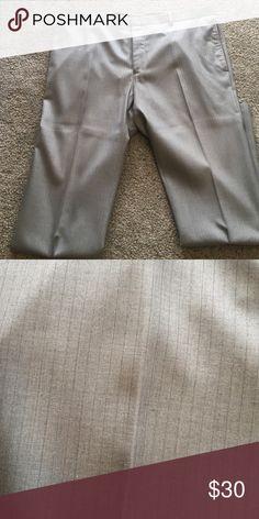 Men's gray dress slacks Gray dress slacks with blue pin strips INC International Concepts Pants Dress