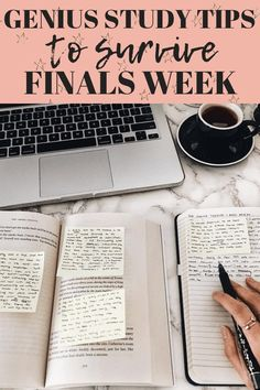 Genius Study Tips to help you pass finals! These are great study tips for finals week. With this study help college finals I got all A's on finals. #studytips #collegestudytips #finalsweek #finalsweekmotivation #finalsweeksurvival #survivefinals #survivingfinalsweek #finalsweekhelp #studyhacks #collegestudyhacks