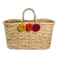 Women's Large Straw Tote Handbag - Merona™