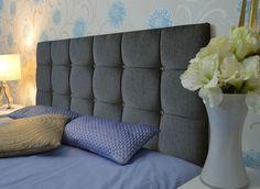Luxury Tufted CALIFORNIA Crystal Diamante Chenile Fabric Headboards Home Bedroom