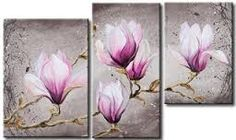 Online Shop Framed & Stretched Oil Painting High Quality Canvas Modern Home Deco Grey Purple Magnolia Art Floral, Pintura Magnolia, Cherry Blossom Art, Canvas Wall Art, Canvas Prints, Ancient Egyptian Art, Magnolia Flower, Color Pencil Art, Contemporary Paintings