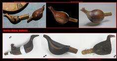 Nootka, Makah, Quileute, …. Sonagli aviformi. Durante i complessi rituali si eseguivano delle danze, generalmente mascherate,  accompagnate da canti e dagli strumenti musicali tradizionali. Questi erano, come tra la maggior parte dei Nativi Americani, principalmente delle percussioni. Gli strumenti a fiato usati durante le cerimonie si limitavano a dei fischietti.
