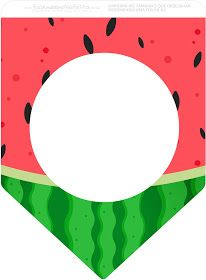 Watermelon Heart: Free Party Printables. Birthday Party Decorations For Adults, Adult Party Themes, Party Printables, Christening Banner, 2nd Birthday Party For Boys, Watermelon Birthday Parties, Sound Song, Baby Foods, Paper Background