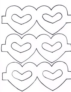 Heart Masks for a preschool classroom craft-- print heart masks on colored cardstock. (Laminate if you have access to a laminator). Cut out and be sure to slightly round any sharp points. Cut out center hearts too (rounding points slightly) Attach skinny elastic (sew, staple, tape, etc) and have the children decorate with any kind of stick embellishments you can find ;)