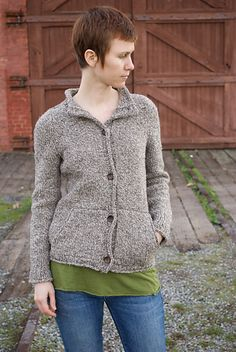 Sounds of Life is a cardigan pattern with a great relaxed fit, generous pockets, and a standup collar. The yarn I used in this pattern was especially inspirational. Cestari Traditional 2 Ply is woolly, rustic, and buttery soft. It comes from American Targhee-Columbia sheep and is minimally processed, so it retains lots of lanolin and even a few bits of hay. I named the pattern after a beautiful sentiment I found on the Cestari website: